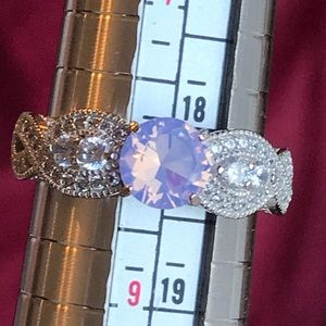 🦄 Purple Moonstone Sterling Silver Ring 🦄